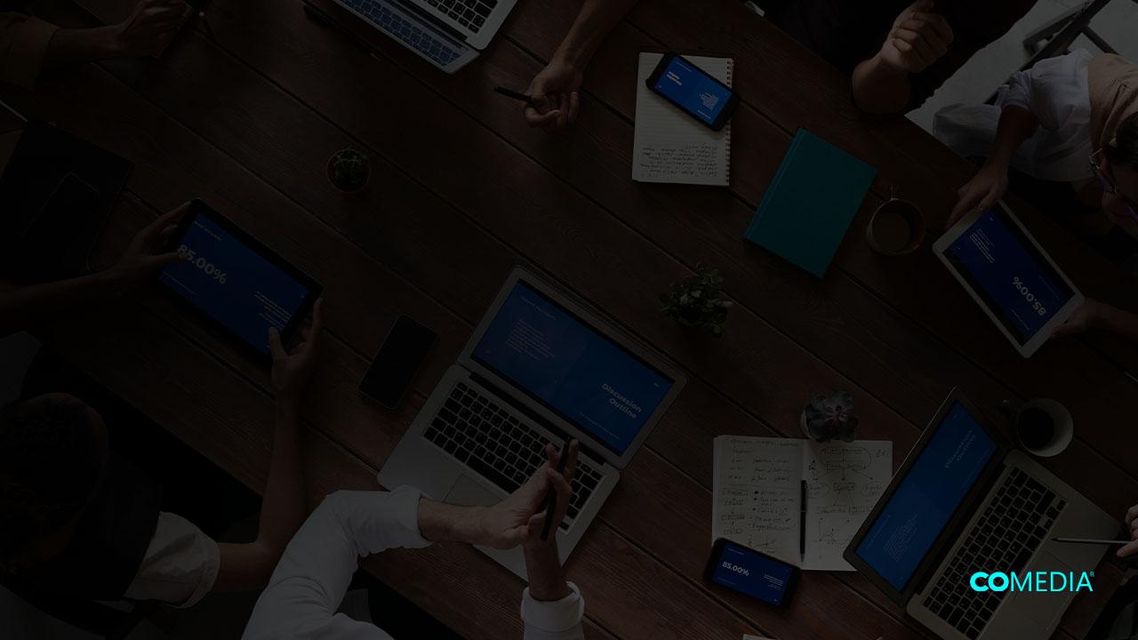 Team developing a website